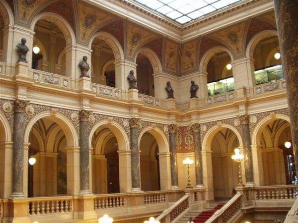 Interior of Prague's National Museum