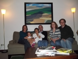 With Jill and her Family
